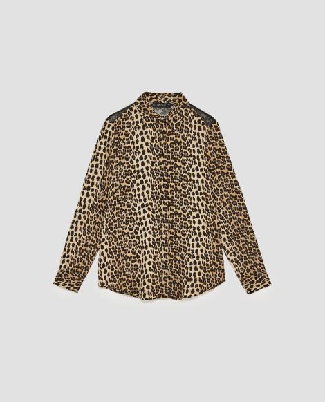 Košile s leopardím vzorem