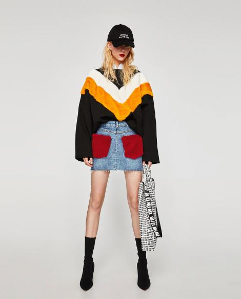 Džínová sukně s mikinou