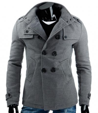 pánský šedý elegantní kabát