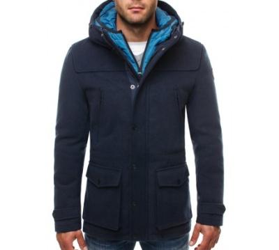 dlouhý granátový kabát