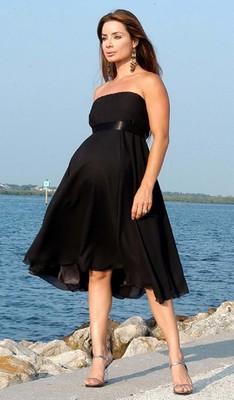 Černé těhotenské šaty
