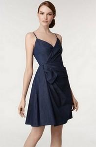 Dlouhé riflové šaty