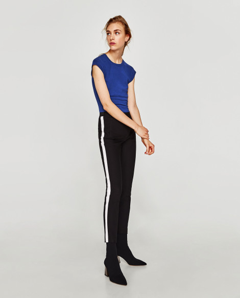 Kalhoty s pruhem