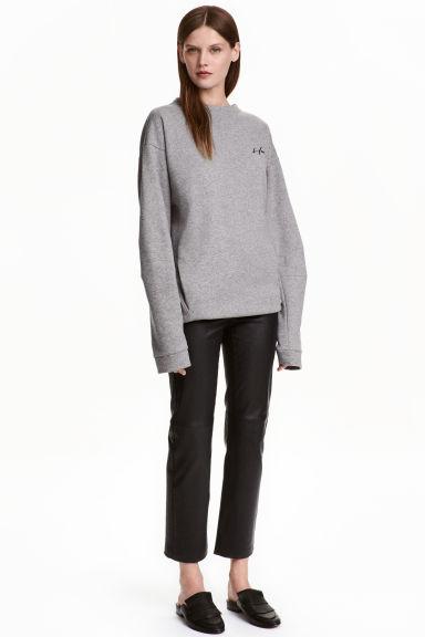 Zkrácená délka kožených kalhot