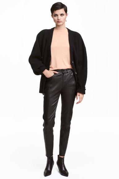 Rovné kožené kalhoty