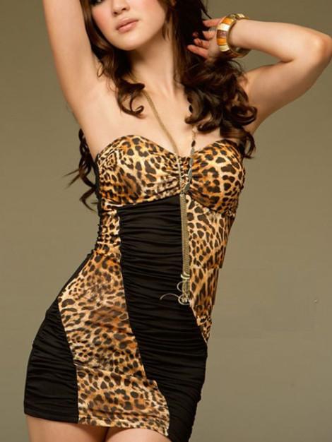 leopardí potisk šaty