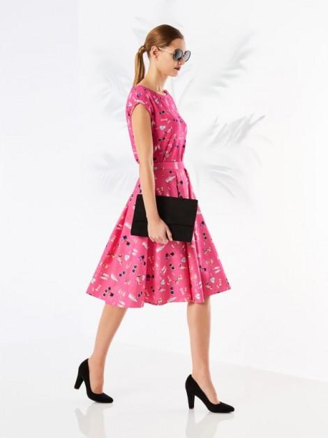 růžová sukně s potiskem