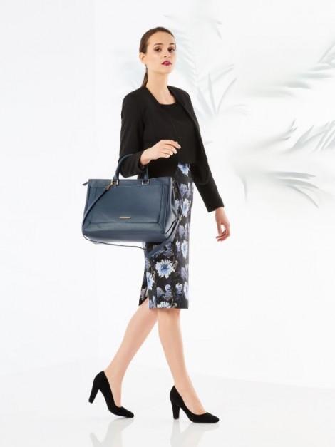 pouzdrová sukně s květinovým potiskem