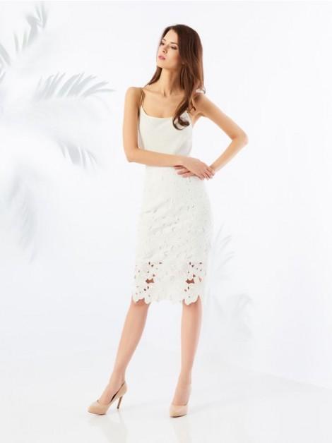 bílá sukně s krajkou