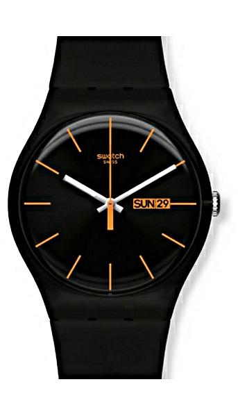 Panské hodinky se silikonovým  páskem