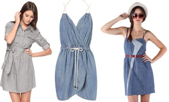 Riflové šaty