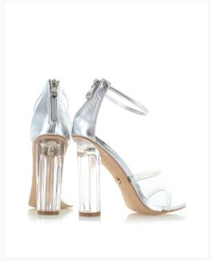 Stříbrné sandály