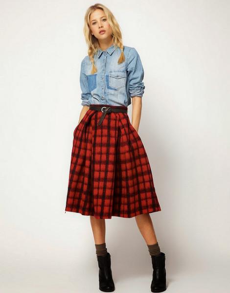 Tartanová sukně