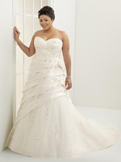 Svatební šaty pro plnoštíhlé