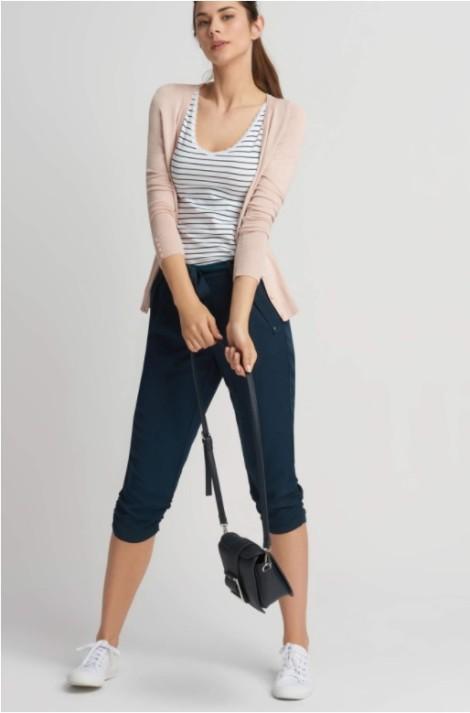 Volnější capri kalhoty