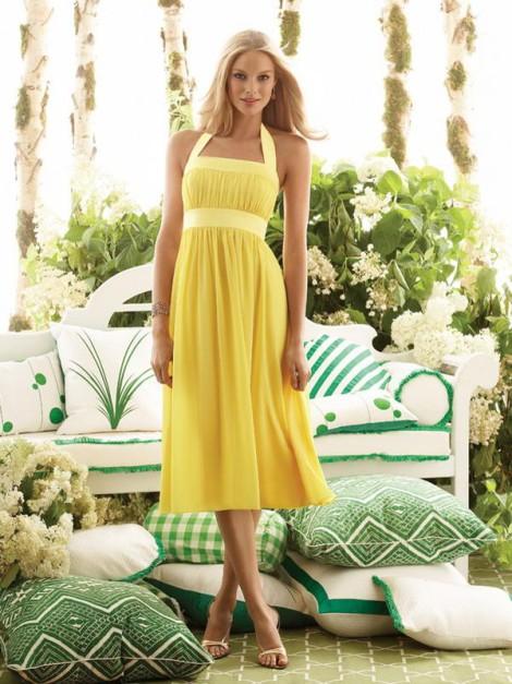 Žluté letní šaty
