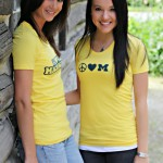 Žluté tričko s potiskem